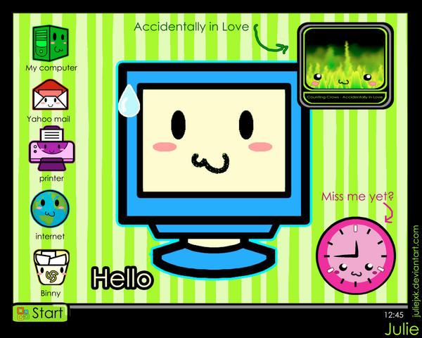 chibi desktop by Juliejxk