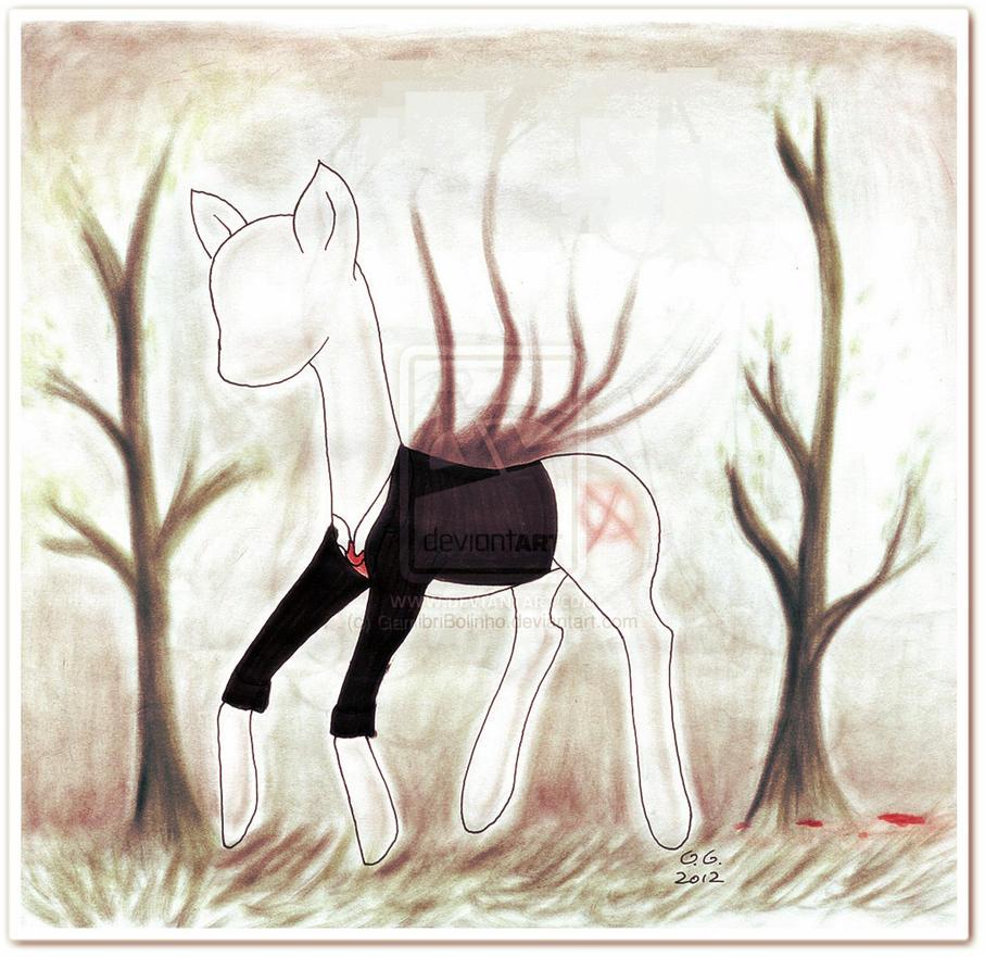 Slender pony by Gamibrii