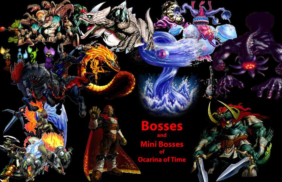 zelda ocarina of time bosses