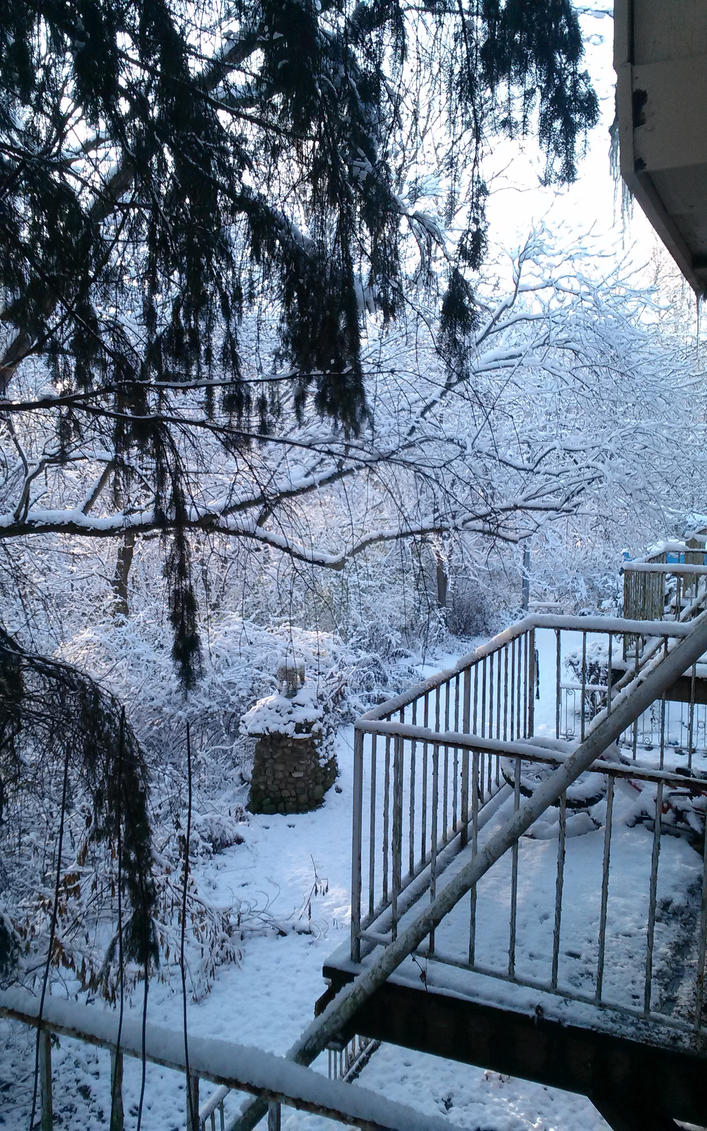 Snowy view from balcony by JeffreyRitt