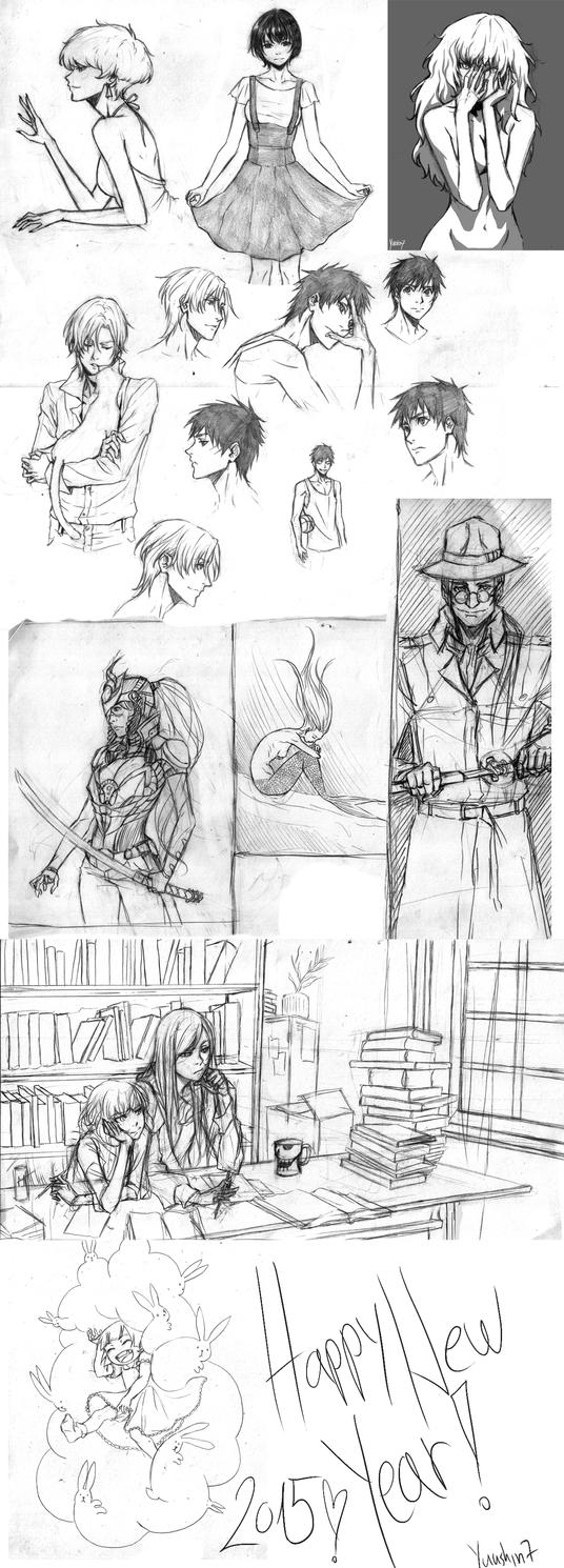 Sketch compilation 8 by Yuushin7