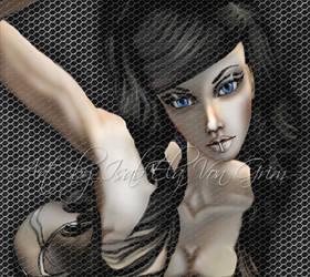 Blue eyes by EllaVonEvil
