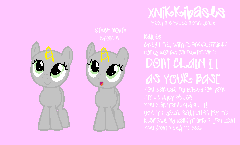Mlp Pony Base 003 Filly Front View By Xnikkibases On Deviantart