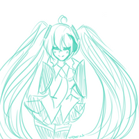 Miku doodle by autumn-lleaves