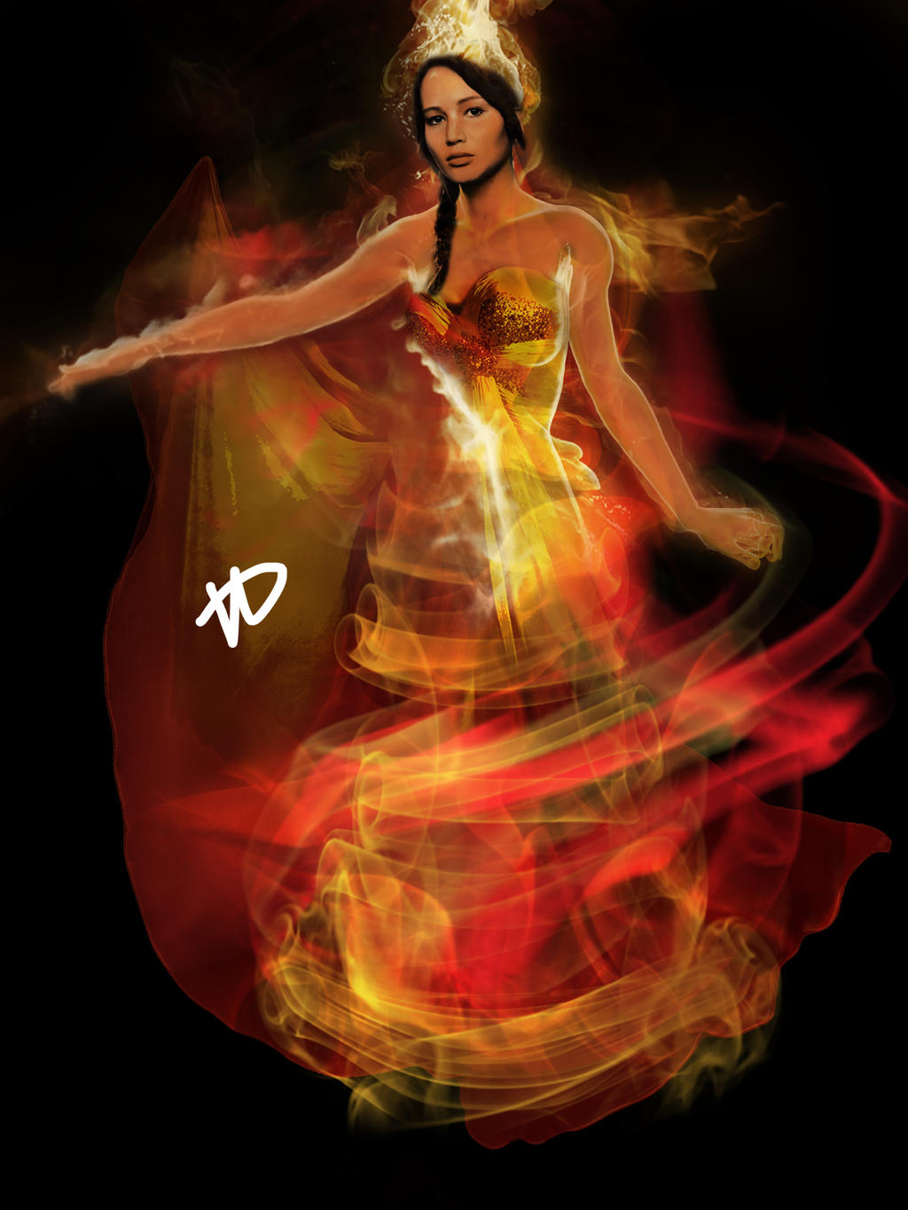 Katniss: The Girl On Fire by xskiesrbluex on DeviantArt