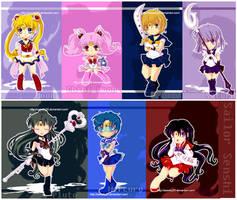 Sailor Senshi Chibi Collection by Sweetly25