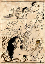 Melkor and the dragons - part four by saphir93