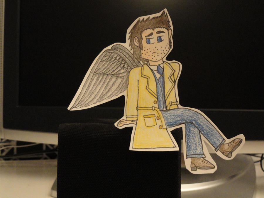 SPN Paperchild: Angel on my Speaker by VicodinFlavoredMints
