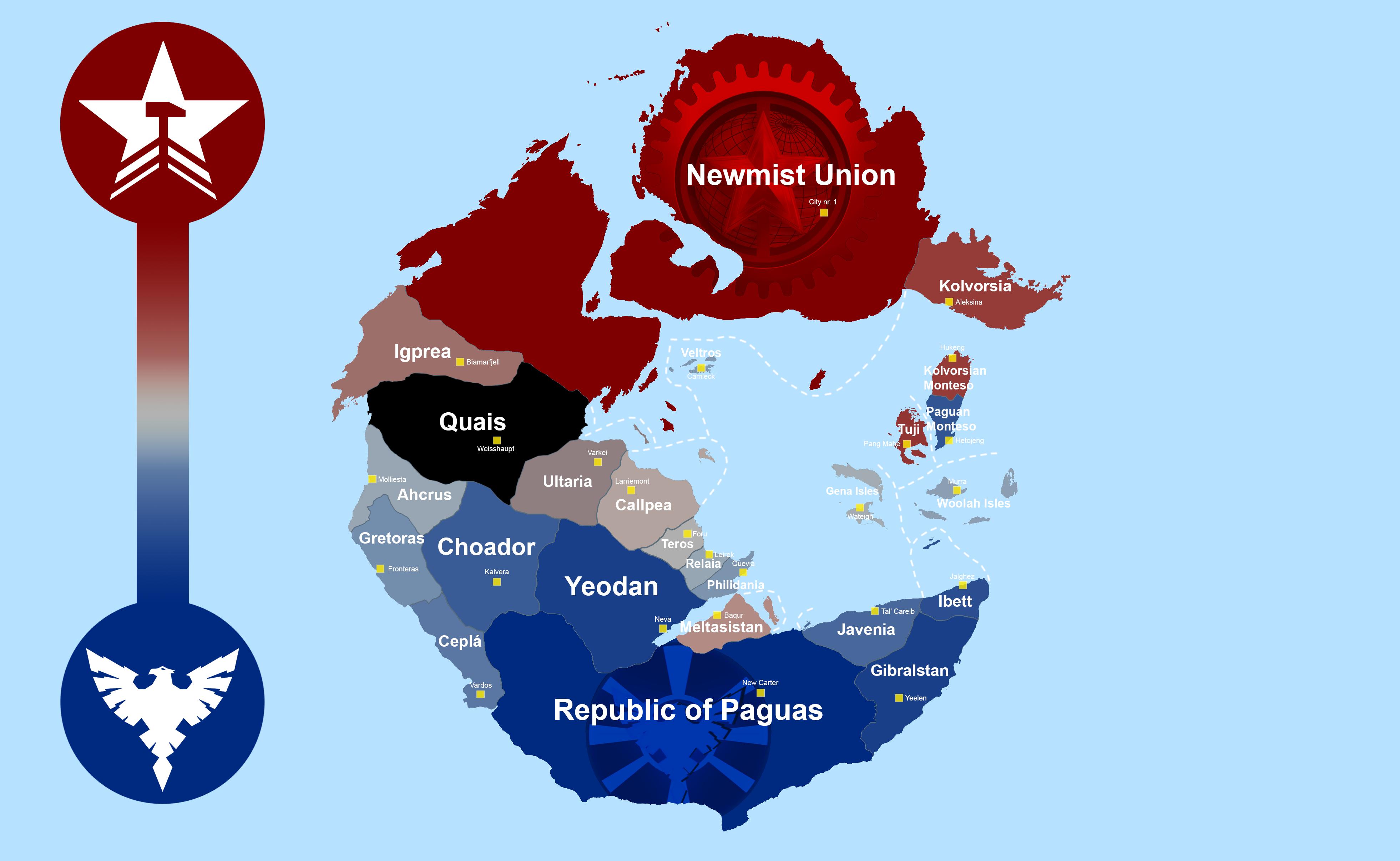 Pangea Map Political Map