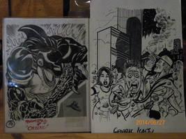 CKC Orignal Card Art: Orzoul! And Generic Kaiju...