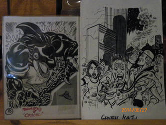 CKC Orignal Card Art: Orzoul! And Generic Kaiju... by Rosenkruex