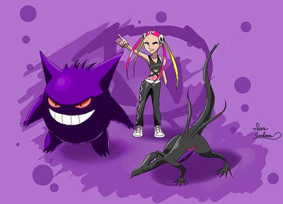 Team Skull Admin Plumeria would like to battle ! by ian9000