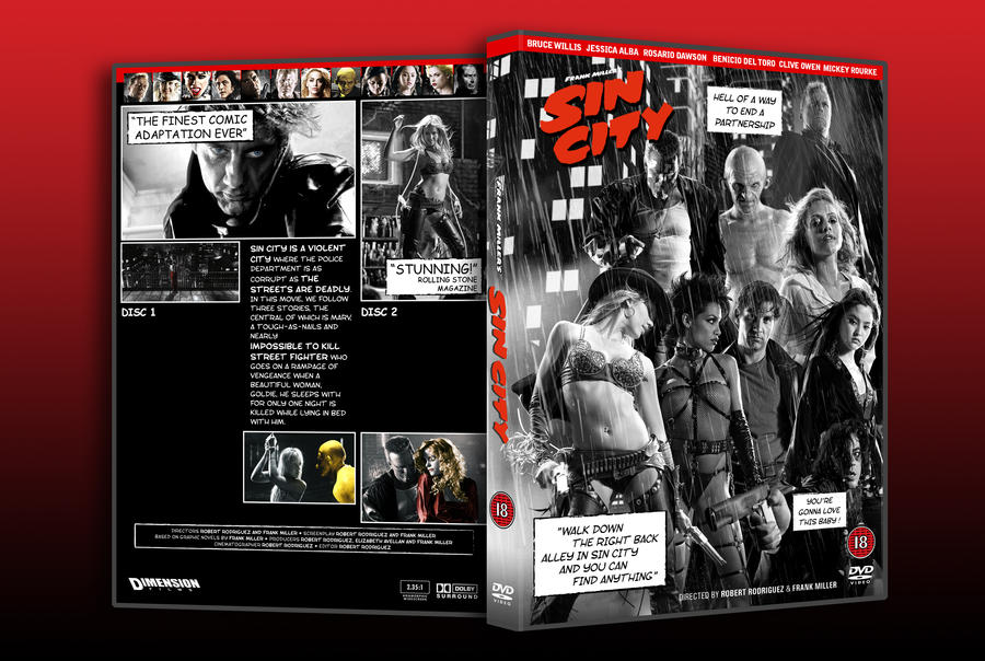 Sin City DVD Custom Cover v1 by admin2gd1