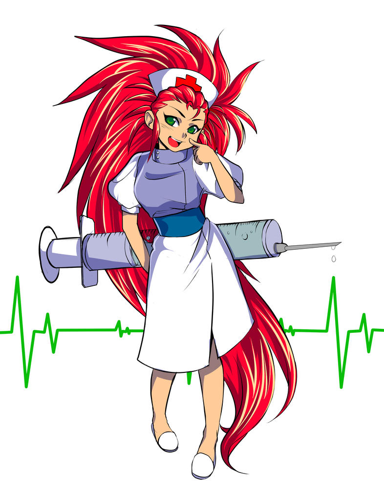Nurse Washu Color by atechnogoddess