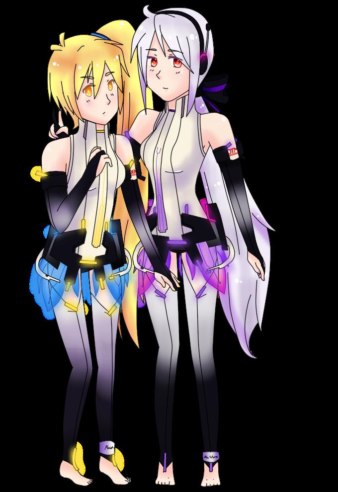 Vocaloid Neru And Haku Akita Neru and Haku Yo...
