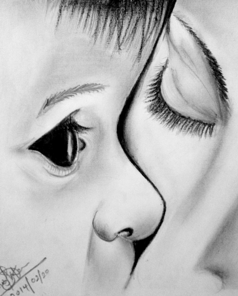 Baby And Mother Love Pencil Art By Dhanu92TENSHI