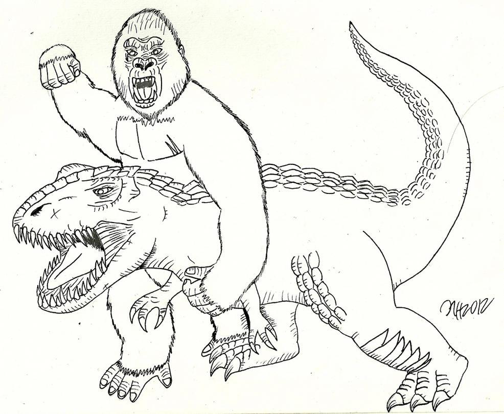 King Kong Vs V Rex By Saintnick14 On Deviantart