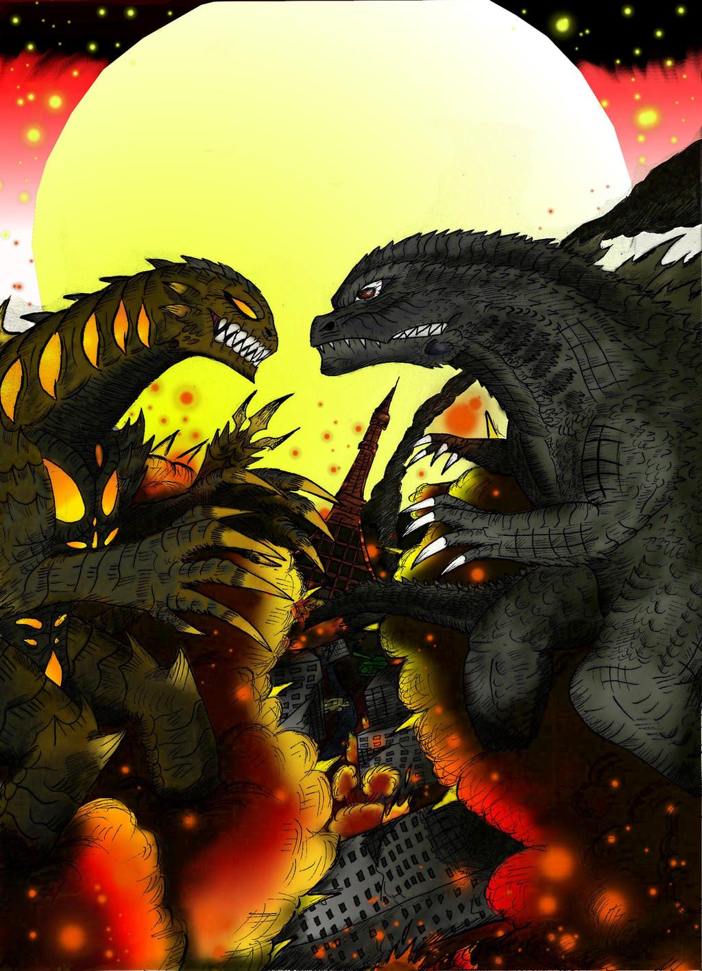 Godzilla vs Nemesis Alt cover by SaintNick14