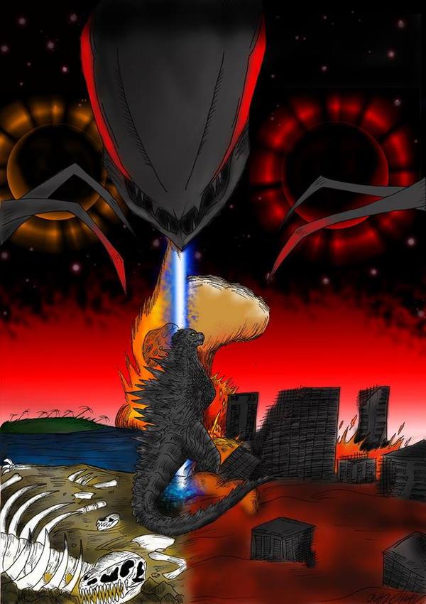Godzilla and Muto: A past unforgotten. by SaintNick14