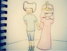 Princess Bubblegum and Finn by Love4Music12
