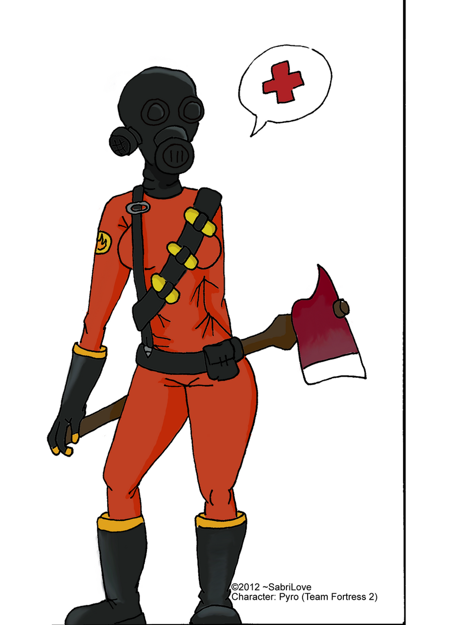 Pyro Girl Color  Team Fortress 2 by SabriLoveTf2 Pyro Girl Skin