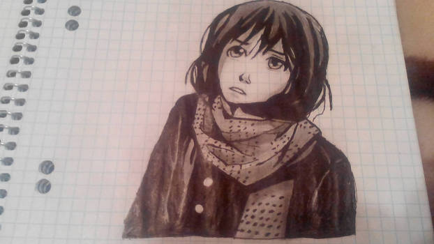 Girl with scarf