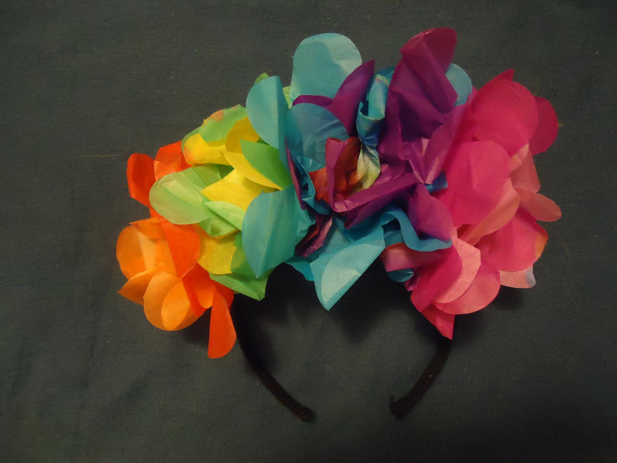 Rainbow Paper Flowers by Giggles4evr on DeviantArt