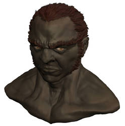 Ganondorf Headshot by cranial-concept