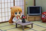 Hakase plays with Sakamoto