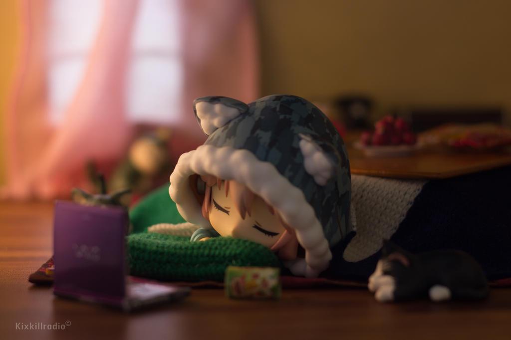 Super Sonico Fell Asleep