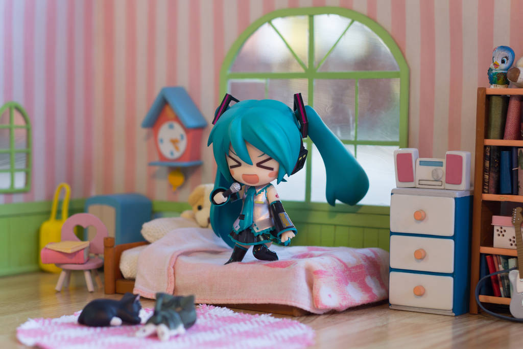 Miku 2.0 Rockin out in her Bedroom by kixkillradio