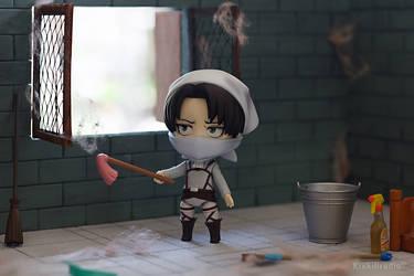 Cleaning Levi by kixkillradio