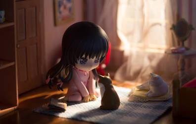 Yozora and the Cat by kixkillradio