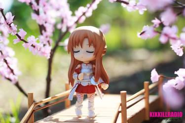 Hanami Days: Asuna is waiting for Kirito by kixkillradio