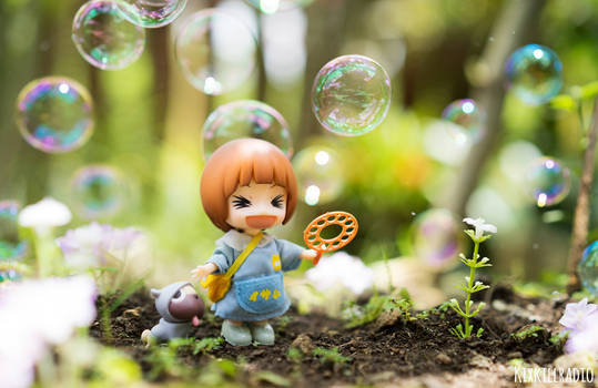 Happiness is blowing bubbles by kixkillradio