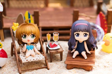 Summertime: Sakura and Tomoyo by kixkillradio