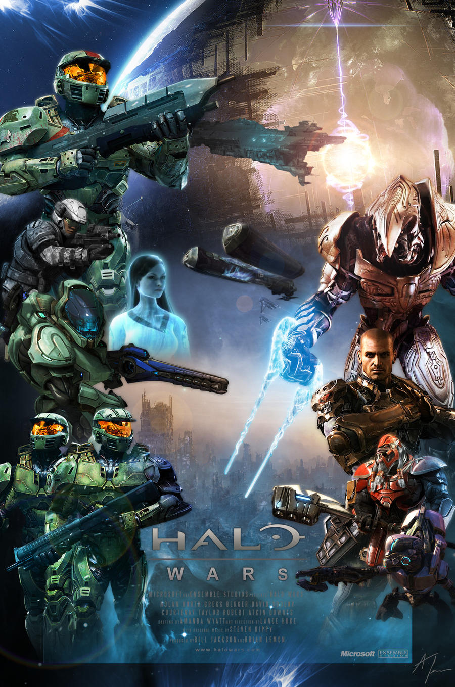 Halo Wars Theatrical Poster by Kakkay on DeviantArt