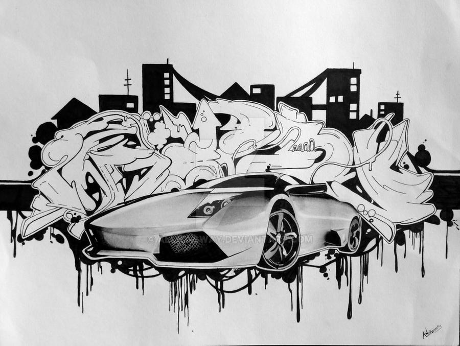Lamborghini Graffiti by allyx-sway on DeviantArt