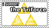 I Support the Triforce Stamp by Sheikah-ness