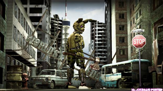 [FNAF/SFM] SpringTrap In The Abandoned City