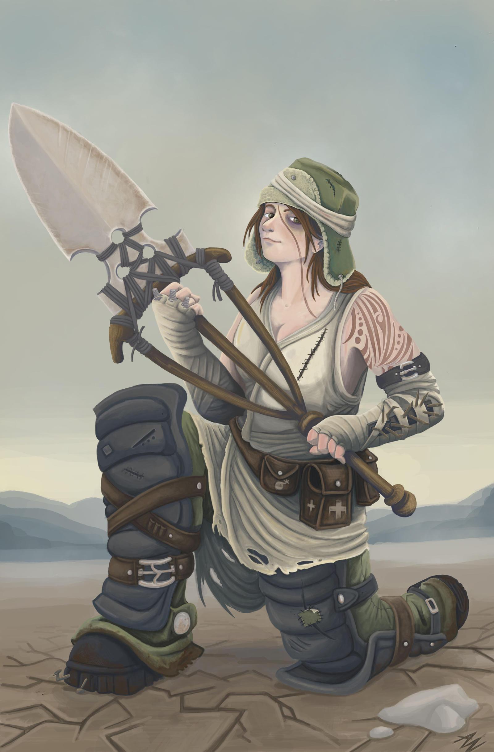 Wasteland traveler by Adele-Waldrom