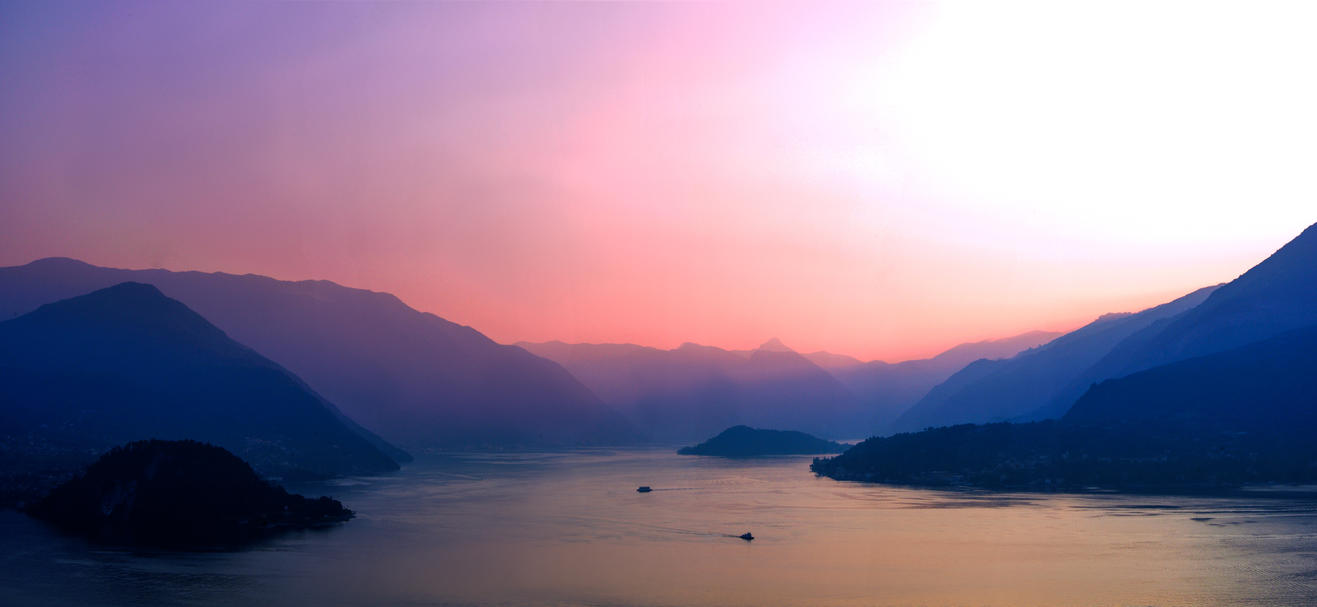 Sunset upon lake Como .01 by Pharaun333