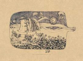 Boat in bottle by Sithzam