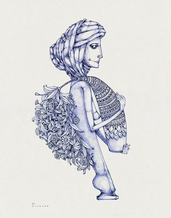 Holding vase by Sithzam
