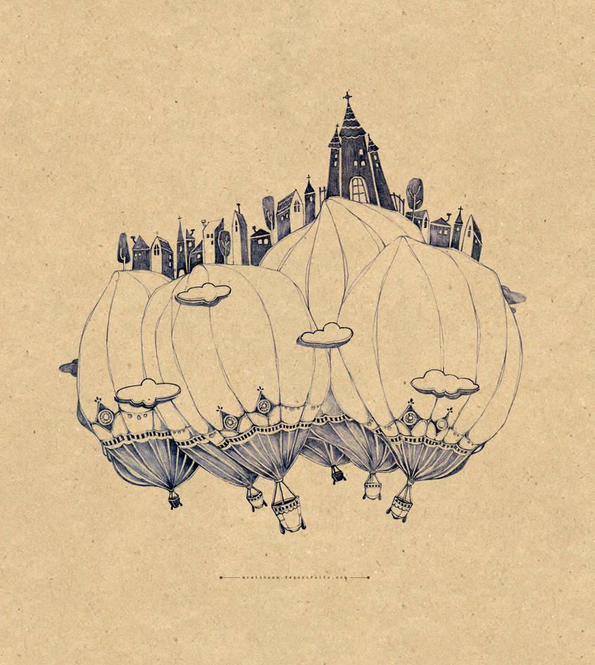Balloon small city