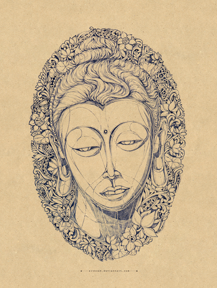 Head of buddha by Sithzam