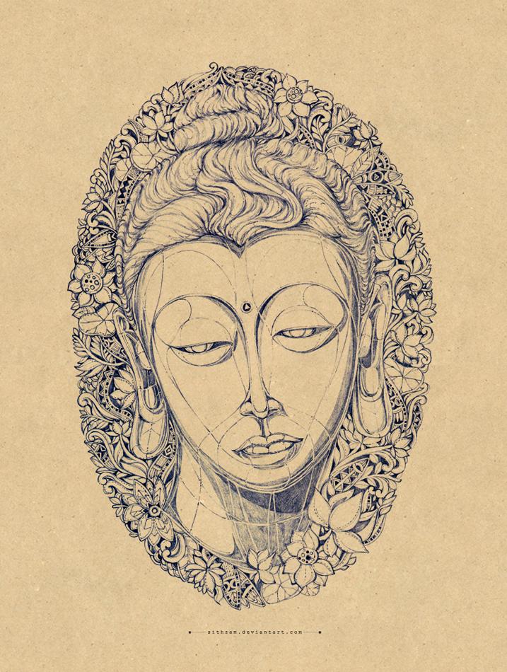 Head of buddha by Sithzam
