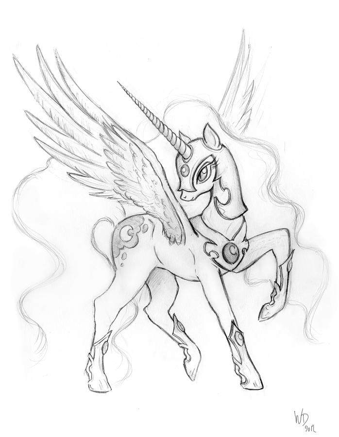 Nightmare Moon - sketch by RoyallyCrimson