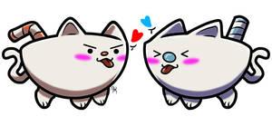 Cuphead and Mugman kitty's