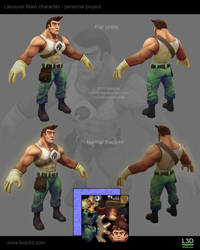 Labourer Main Character Gamemodel